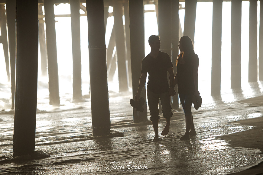 Jessica Elizabeth Wedding Photography Santa Monica Pier Engagement-12.jpg