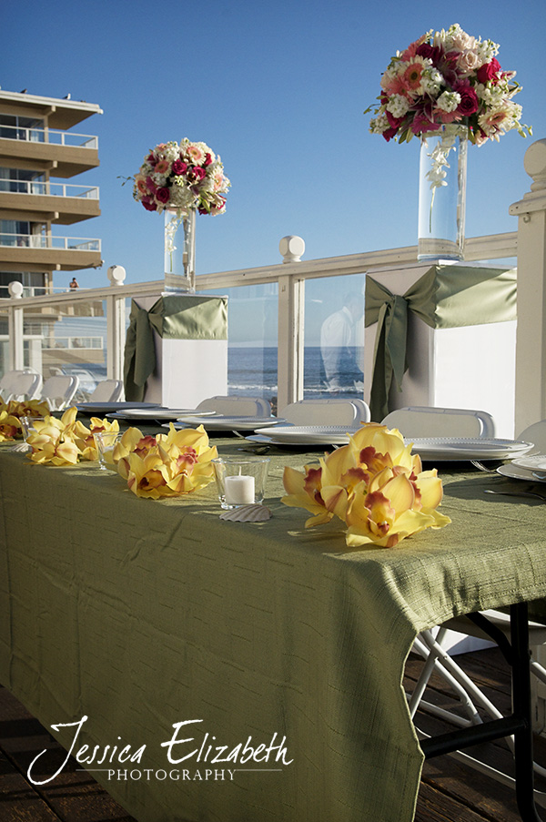 Their Head Table on the Pacific Edge Villa 39s deck